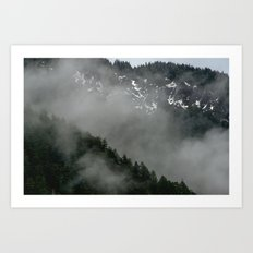 Snow Fog Mountain Olympic National Park foggy forest trees travel love adventure wild america sky 5 Art Print