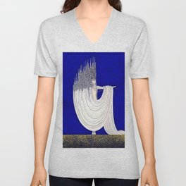 """North Sea"" Art Deco Design Unisex V-Neck"