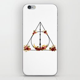 Deathly Hallows in Red and Gold iPhone Skin