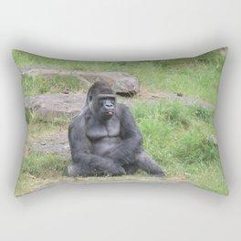 Gorilla Eating A Carrot Rectangular Pillow