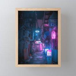 Dark City Vibes in Tokyo Framed Mini Art Print