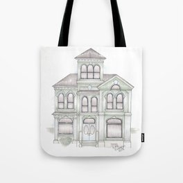Green Italianate Victorian Tote Bag