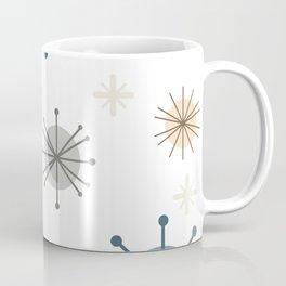 Mid Century Modern Starburst Snowflakes Coffee Mug
