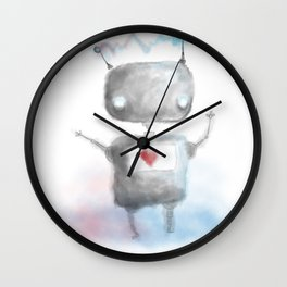 Robot Heartfelt Wall Clock