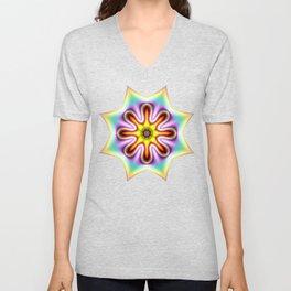 Decorative colourful silky star Unisex V-Neck