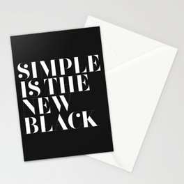 Simple is the new black Stationery Cards