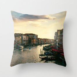 Venice on sunset Throw Pillow