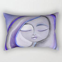 Blissfully Blue Rectangular Pillow