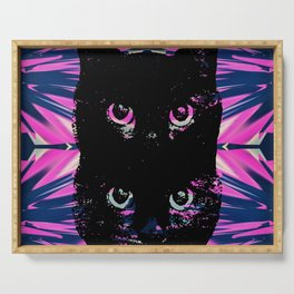 Black Cat Rising Serving Tray