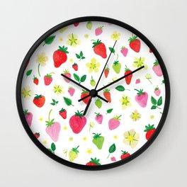 Summer Strawberry Fields Wall Clock