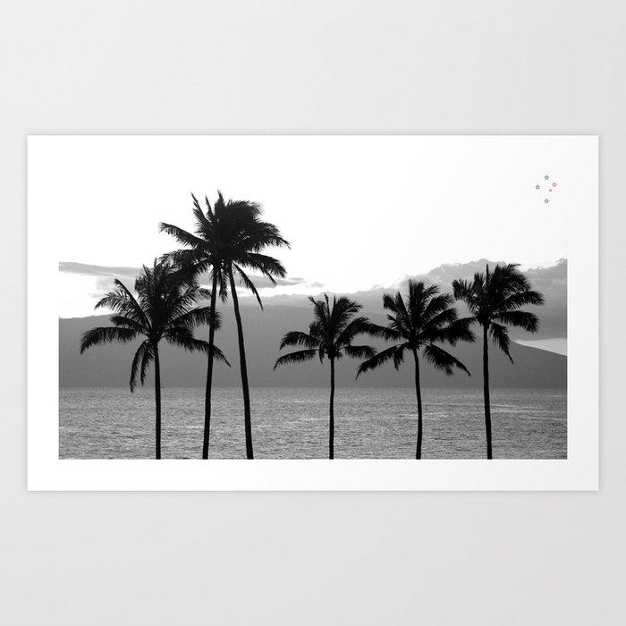 Palm Trees Tropical Art Print