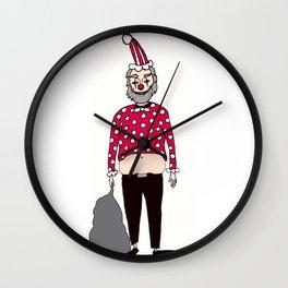 Santa Clown Wall Clock