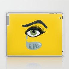 Green Lying Eye With Tears Laptop & iPad Skin