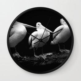 Pelican Trio black and white Wall Clock