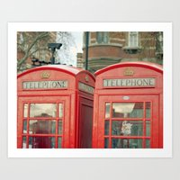telephone Art Prints featuring Telephone by The Last Sparrow