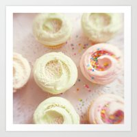 cupcakes Art Prints featuring Cupcakes by Kim Fearheiley Photography