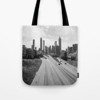 atlanta Tote Bags featuring Atlanta by Trey Visions