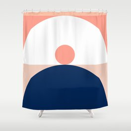 Abstraction_SUN_Mountains_Pattern_Minimalism_001 Shower Curtain