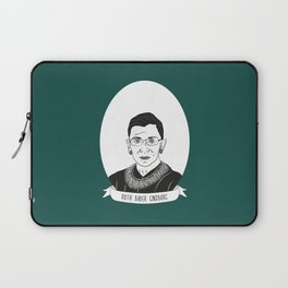 Ruth Bader Ginsburg Illustrated Portrait Laptop Sleeve