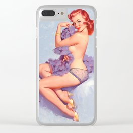 Pin Up Girl Roxanne by Gil Elvgren Clear iPhone Case