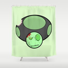 Zombie Toad Shower Curtain