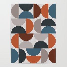 Mid Century Modern Geometric 25 Poster