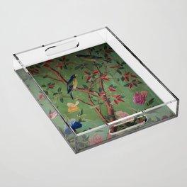 Green Dream Chinoiserie Acrylic Tray