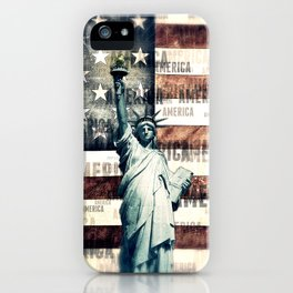 Vintage Patriotic American Liberty iPhone Case
