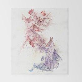 Flight of Bats Throw Blanket