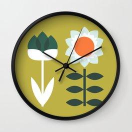 Set Sun Olive Wall Clock