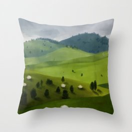 Alpino Meadows Throw Pillow
