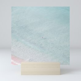 beach - the swimmer Mini Art Print