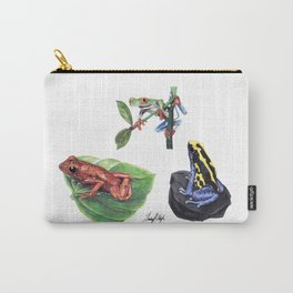Jungle Frogs Carry-All Pouch