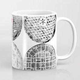 Manhole Cover Ink Print Complilation Coffee Mug