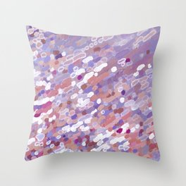 Violet Wave Reflections Throw Pillow