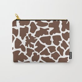Animal Print (Giraffe Pattern) - Brown White Carry-All Pouch