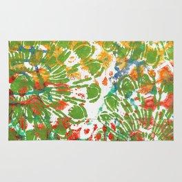 Green Flowers Rug
