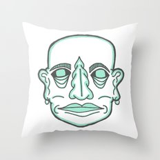 PUNK MONK Throw Pillow