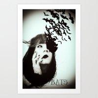 bats Art Prints featuring Bats by Nuria Mrtz. FotoArt