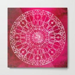 Rosette Window - Magenta Metal Print