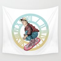 back to the future Wall Tapestries featuring Back to the future by jorgeink