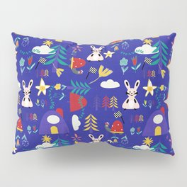 Tortoise and the Hare is one of Aesop Fables blue Pillow Sham