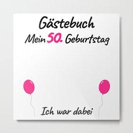 50th Birthday Women Guest Book Metal Print