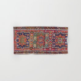 Kuba Sumakh East Caucasus Antique Rug Print Hand & Bath Towel