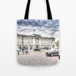 Buckingham Palace Snow Tote Bag