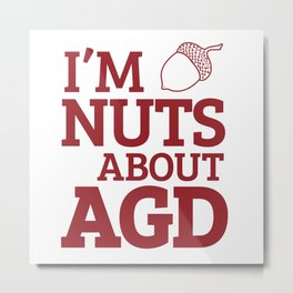 Nuts about AGD Metal Print