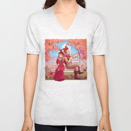 Witch and Wizard of Valentines Unisex V-Neck