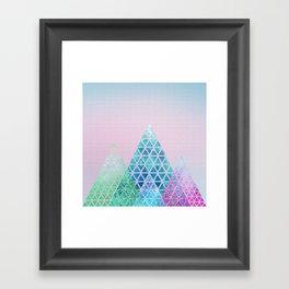 Geometric Christmas Trees Framed Art Print