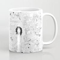 hollywood Mugs featuring Hollywood by JessicaJaneIllustration