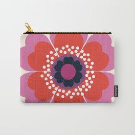 Lightweight - 70s retro throwback floral flower art print minimalist trendy 1970s style Carry-All Pouch
